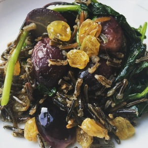 wild rice grapes 3 ways